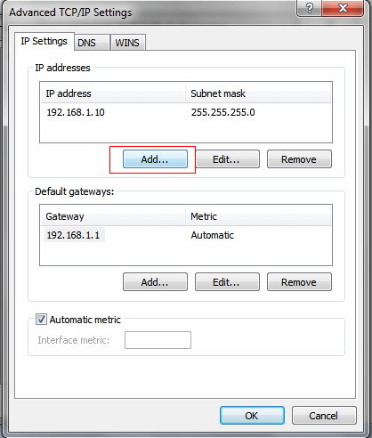 Advanced IP setting