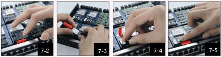 insert SIM cards