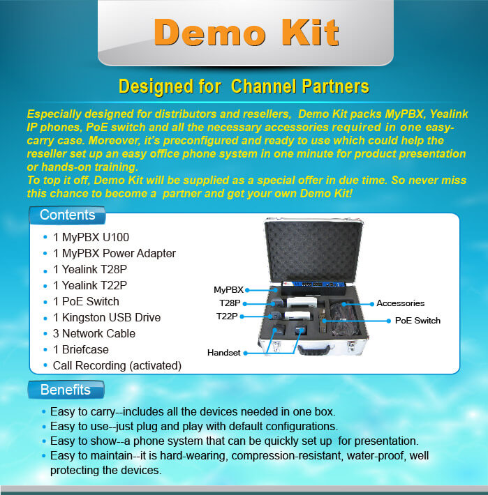 yeastar channel partner demo kit features