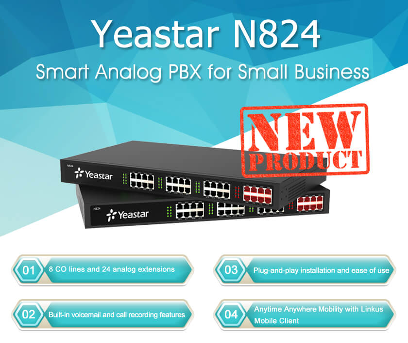 yeastar n824 features
