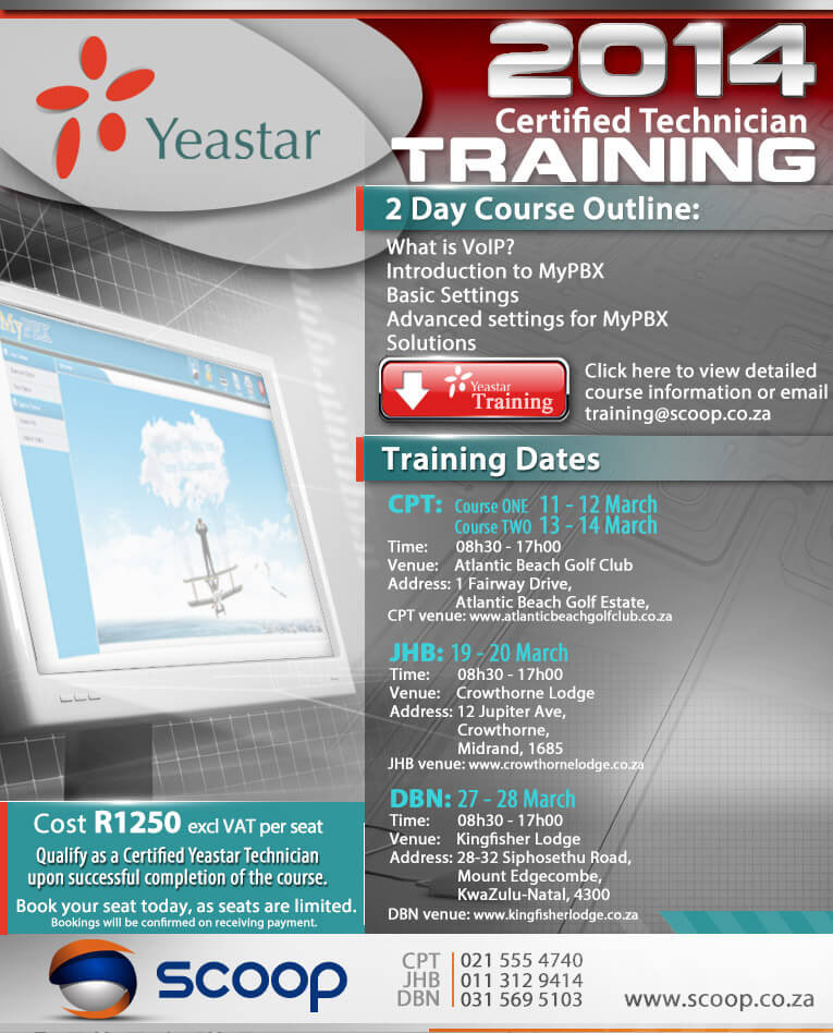 yeastar south africa tech training 2014