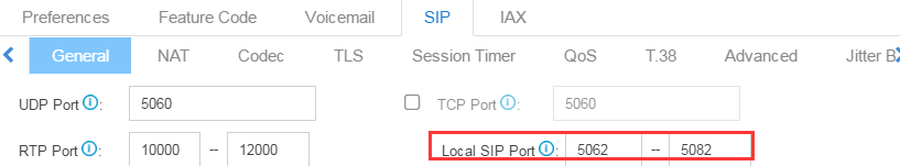 random SIP port- S-Series VoIP PBX