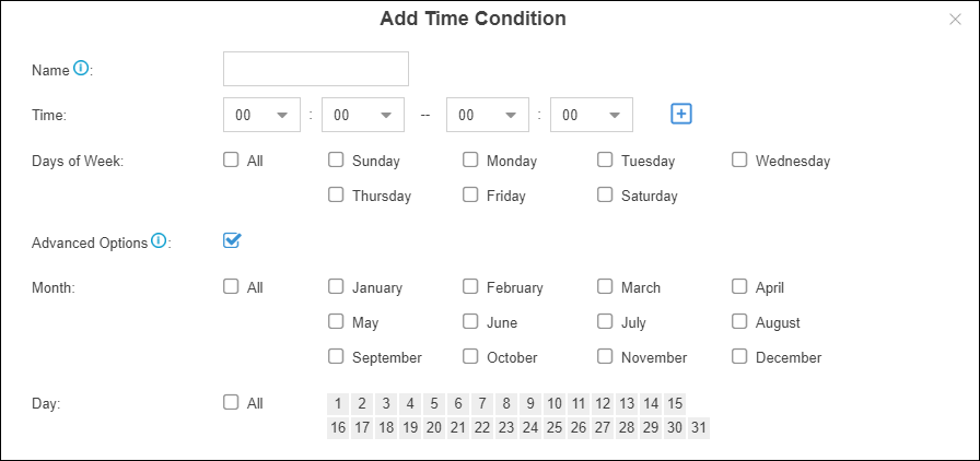 Add time condition