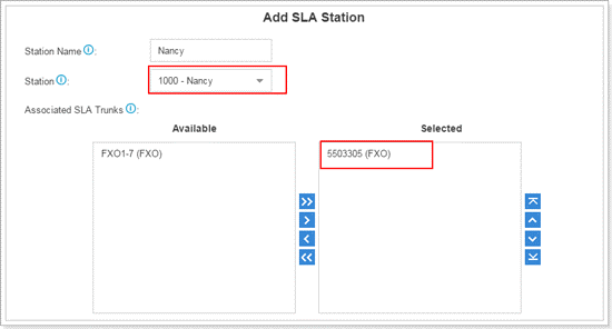 Add SLA Station 1 on Yeastar Cloud and S-Series VoIP PBX