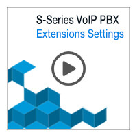 Section 1 Lesson 4: S-Series VoIP PBX Extensions Settings (Video)