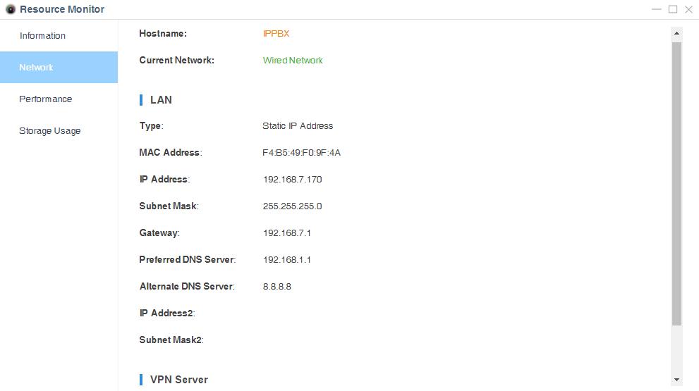 pbx network status