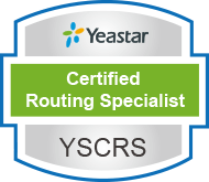 yeastar certified routing specialist verification