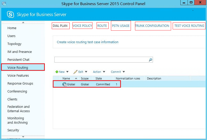 Configure call routing on Microsoft Skype for Business