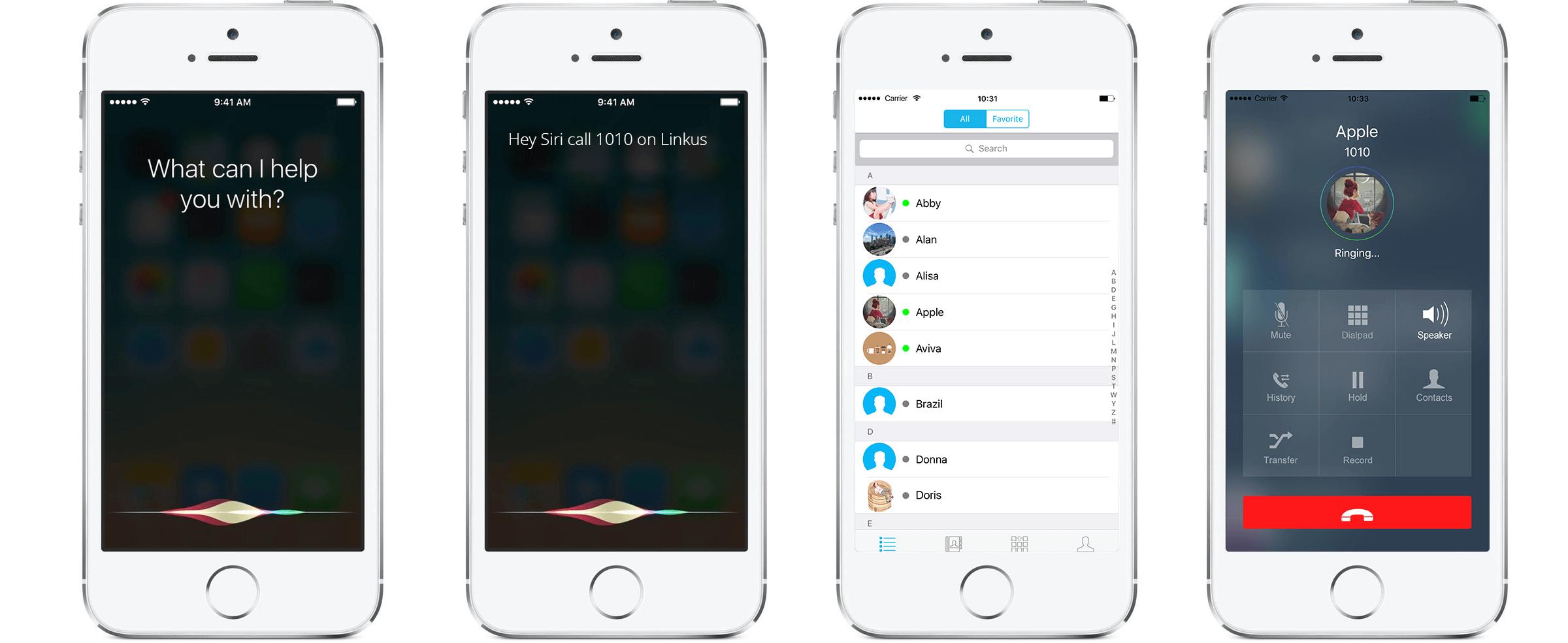 Make a Linkus Call via Siri