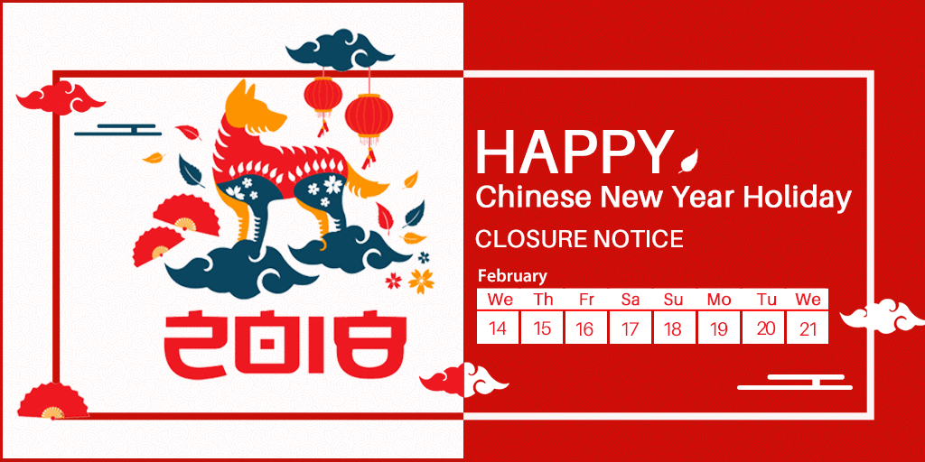 Chinese New Year Holiday Closure Notice