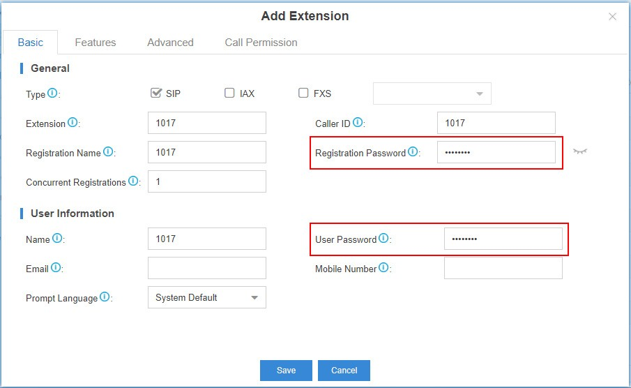 Cloudpbx Extension