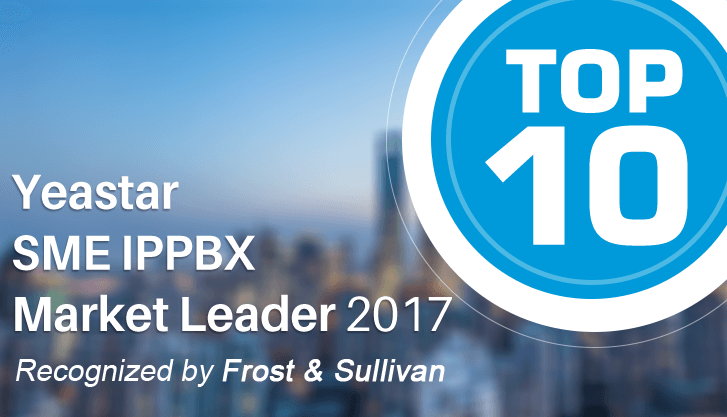 Yeastar Ranked in Top 10 for 2017 SME IPPBX Market (Global)