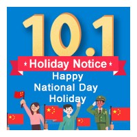 2018 National Day Holiday Closing Notice