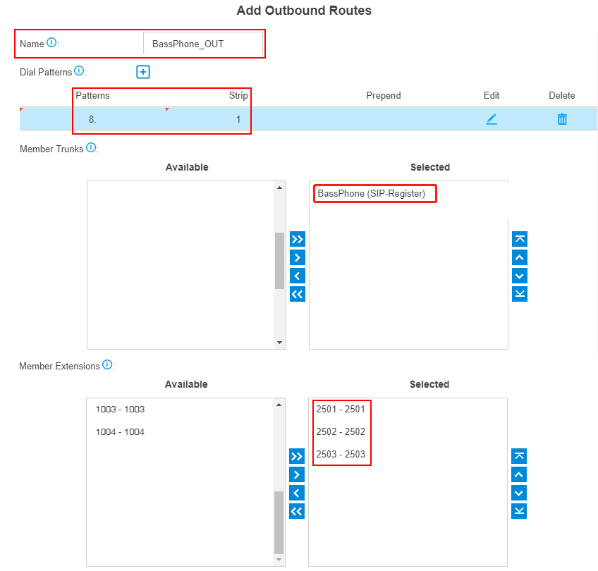 add outbound route template