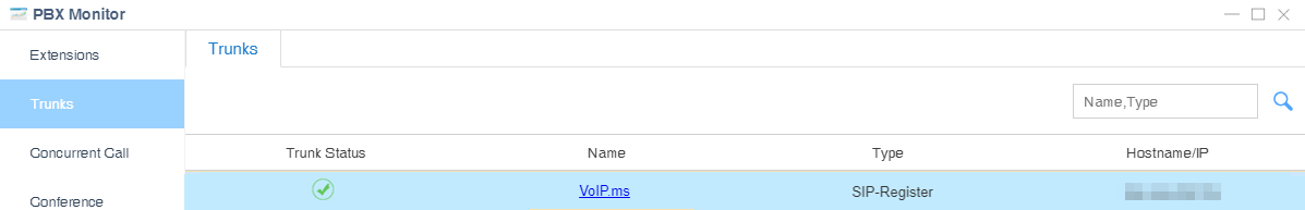 VoIP.ms trunk status