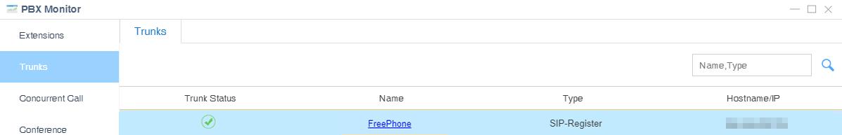 Freephone Trunk Status