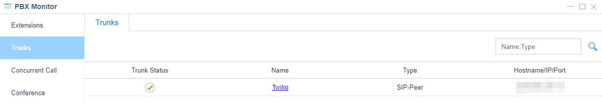 twilio trunk status