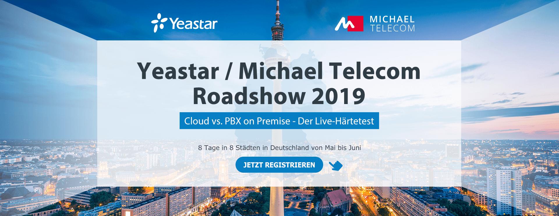 Yeastar Michael Telecom Roadshow 2019 Banner_1