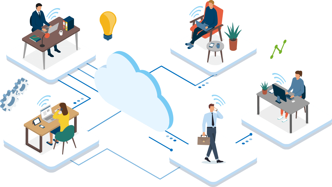 Linkus Cloud Service for Remote Working
