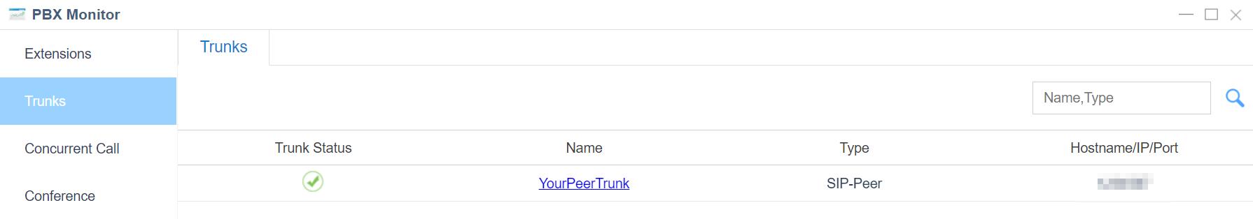 3. Check PBX Status - Yeastar S-Series Peer