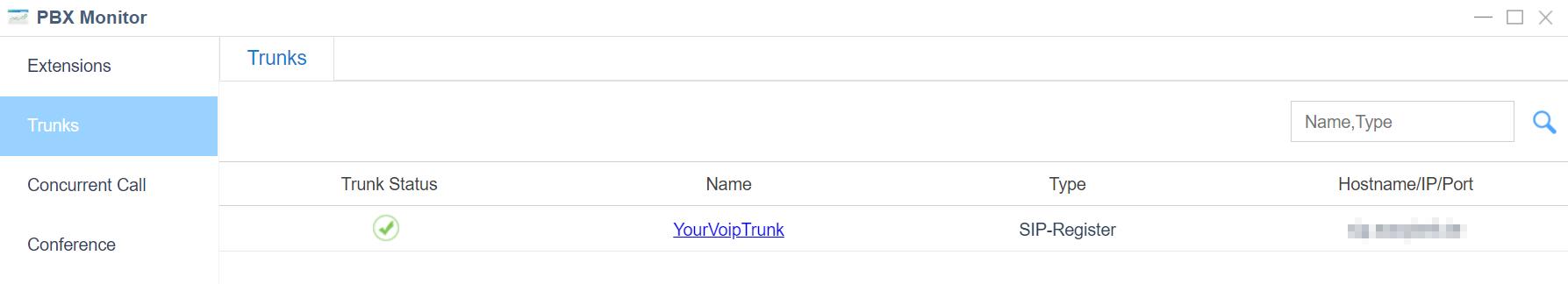 3. Check PBX Status - Yeastar S-Series Register