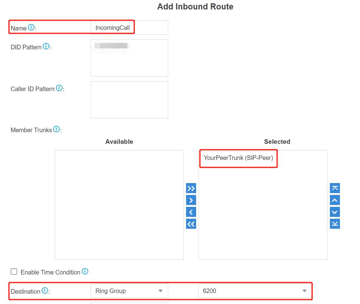 7. Inbound Configuration - Yeastar Cloud PBX Peer